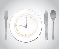 Time for food concept illustration Royalty Free Stock Photo