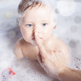 Time For Baby S Bath Stock Photo