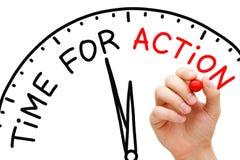Time för handling Fotografering för Bildbyråer