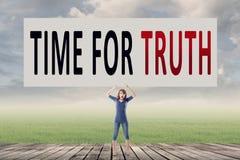 Time för sanning Arkivbild