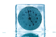 Time freeze. A concept image with a clock frozen just two minutes before 5 Royalty Free Stock Photo