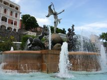 When time freezes. This splendid shot of this beautiful fountain full of history and art behind its construction, this fountain is located on The Paseo de la Royalty Free Stock Images