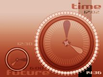 Time and future. Red time layout stock illustration