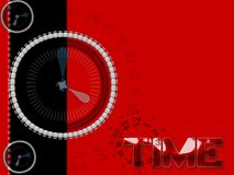 Time future oast and present. Time concept with red theme stock illustration