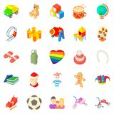 Time for games icons set, cartoon style. Time for games icons set. Cartoon set of 25 time for games vector icons for web isolated on white background Royalty Free Stock Photography