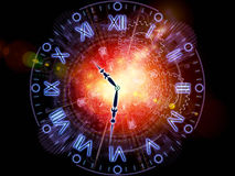 Time gears. Composition of clock hands, gears, lights and abstract design elements as a concept metaphor on subject of time sensitive issues, deadlines Royalty Free Stock Image