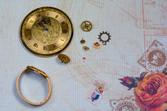 Time Gears background Royalty Free Stock Photos