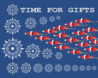 TIME FOR GIFTS. Design banner Royalty Free Stock Photo