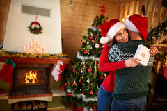 Time of giving gifts. For Christmas holidays Royalty Free Stock Image