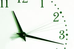 Time is going. Watch close-up Stock Images