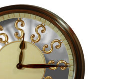 Time is gold, time is money!. Clock with golden dollar signs as numbers depicting time is money and gold Stock Photos