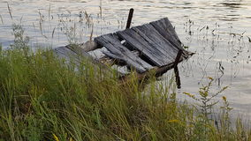 A time gone by. An old dock left to rot away Royalty Free Stock Photos