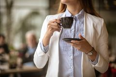 Time for good coffee stock image