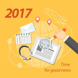 2017 time for good news Royalty Free Stock Image