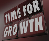 Time for Growth Clock Flipping Tiles Increase Improve Rise Boost Stock Photos