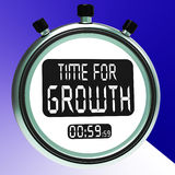 Time For Growth Message Means Increasing Or Rising Royalty Free Stock Photography
