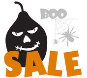 Boo! Halloween sale with pumpkin. Time for halloween sale. Sale advertisement with pumpkin. Halloween theme clean design Royalty Free Stock Images