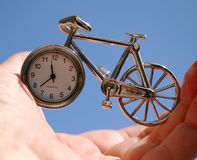 Time in hand. Royalty Free Stock Images