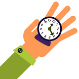 Time in hand Royalty Free Stock Photography