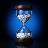Time health. Came to me the idea to create a custom an hourglass Stock Image
