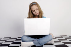 Time for her homework Stock Photography