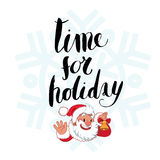 Time for holiday lettering Royalty Free Stock Photos