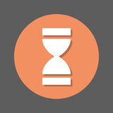 Time, Hourglass flat icon. Round colorful button, circular vector sign with shadow effect. Flat style design. Royalty Free Stock Photo