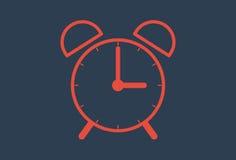 Time icon- alarm clock. Illustration Stock Photos