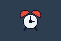Time icon- alarm clock. Illustration Royalty Free Stock Photos