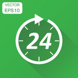Time icon. Business concept 24 hours clock pictogram. Vector ill Stock Image