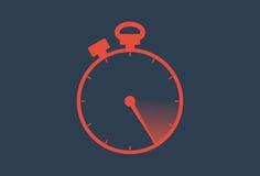 Time icon- Chronometer. Illustration Stock Photo