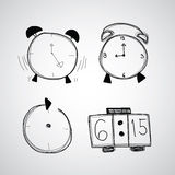 Time icon  hand drawn sketch Royalty Free Stock Image