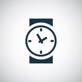 Time icon. Isolated, black on the white background. Vector Royalty Free Stock Images