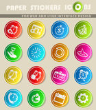 Time icon set Stock Photography