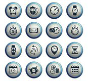 time icon set royalty free stock photography