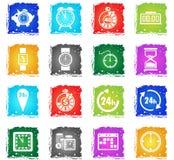 Time icon set Royalty Free Stock Photos