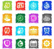 Time icon set Royalty Free Stock Image