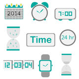 Time icon vector Stock Image