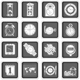 Time icons Royalty Free Stock Photo