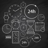 Time icons background Royalty Free Stock Image