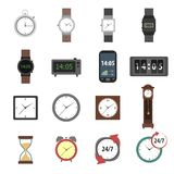 Time Icons Flat Stock Images