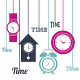 Time icons Stock Image