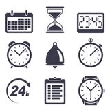 Time icons. Isolated on white Royalty Free Stock Photos