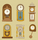 Time icons Stock Photo