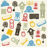 Time icons Stock Photos
