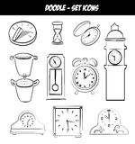 Time icons Royalty Free Stock Photography