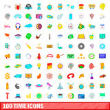 100 time icons set, cartoon style. 100 time icons set in cartoon style for any design vector illustration vector illustration