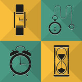 Time icons set great for any use. Vector EPS10. Stock Photography