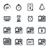 Time icons set. Time icon collection on a white background Royalty Free Stock Photos
