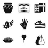 Time icons set, simple style Stock Photography